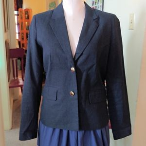 Harve Benard Blazer Blue Jacket Pin Stripe Lining
